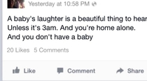 A babys laughter is the sweetest thing FB