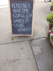 A bar sign in the East Village