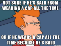 A baseball cap is like a perpetual motion machine of causation of male pattern baldness