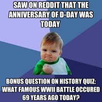 A beautiful thing happened today when I decided to go on Reddit instead of studying for a quiz