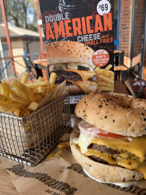 A burger in South Africa Not bad for