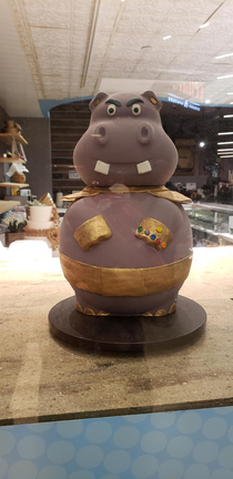 A cake from Cake by Franck in Foxwoods Resort Yes that is Moto Moto as Thanos in cake form