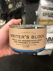 A Candle for Writers Block