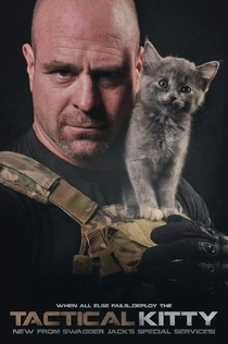 A cat showed up during a photoshoot my brother was doing for a tactical magazine