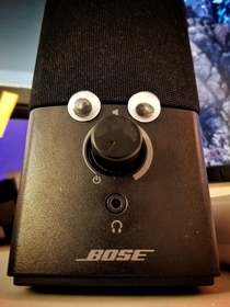 A co-worker enhanced my speaker setup