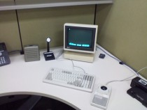 a co-worker went on vacation we upgraded his office recently