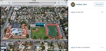 A coach from a rival high school uploaded an aerial picture of the school to their official football Instagram- he forgot to close all of his tabs