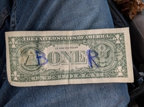 A dirty dollar bill I got today its brilliant How have I never seen this joke before now