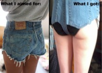 A failed attempt at cut-off jean shorts