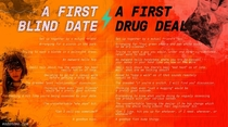 A First Blind Date vs A First Drug Deal