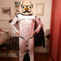 A friend of mine bought a totally legit Imperial Stormtroopers armor from a Chinese website This is what he received