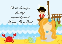 A friend of mine said she wanted me to create an invitation for her  year olds Mermaid Party and I could be creative with the text