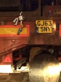 A friend saw this on the back of a lorry