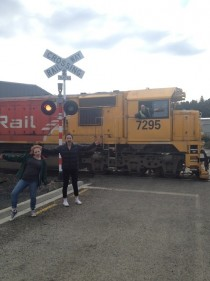 A friend was taking a photo as a train went past and someone decided to get in on the action
