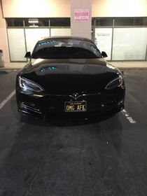 A gamer with a Tesla