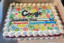 A Google employee quits his job to work for Bing and his coworkers get him a cake
