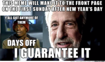 A holiday meme prediction