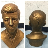 A JFK Piggy Bank Not really thought out that well