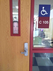 A kid at my school had been hiding these behind the windows