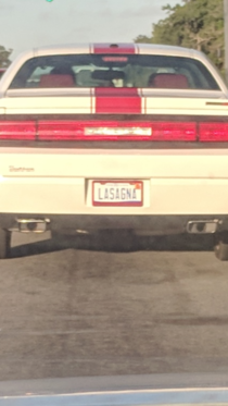 A license plate to be proud of