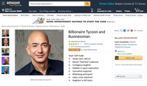 A lightly used Jeff Bezos is for sale on Amazon Prime