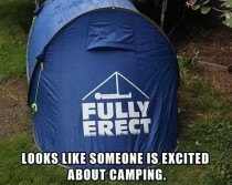 A little excited about camping