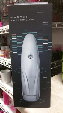 A male sex toy we sell at my store looks like A Portal Sentry Turret The eye even lights up red