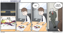 A merit reward from business cat