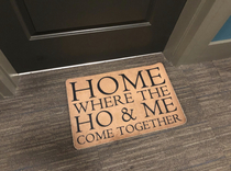 A neighbors doormat