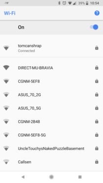 A neighbors WiFi network name