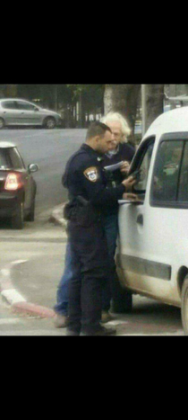 A pic of Einstein gettin arrested for moving at Relative Speed