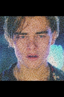 a picture of leonardo di caprio crying made out of pictures of oscar winners