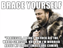 A post-Thanksgiving tradition for all professors