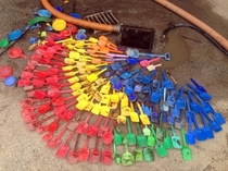 A pre-school was having issues with a cesspool by the sandbox After pumping it this is what they found