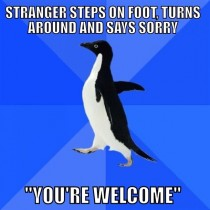 A pretty awkward situation if you ask me