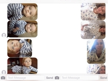 A random number keeps sending me pics of their baby so I send back pictures of me in the same positions