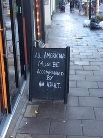 A sign outside of a restaurant in Europe