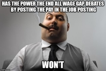 A simple wage gap solution that doesnt require hashtags
