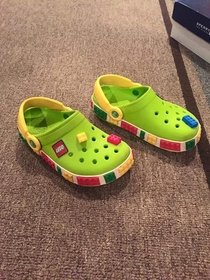 A special place in Hell exists for the guy who combined tripping over your kids shoes and stepping on Legos