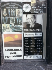 A tattoo shop in my town has a strong advertisement game
