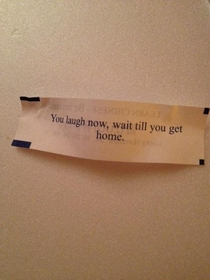 A threatening message from my fortune cookie