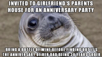 A Toast to an Awkward Anniversary