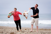 A while back we tried to take family photos at the beach The results wereunexpected