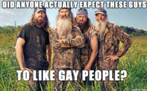 About this Duck Dynasty situation