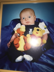 About  years ago I put googly eyes on a picture of my brother as a baby Theyre still there to this day