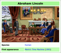 Abraham Lincoln from Marios Time Machine was so popular that they made him in real life
