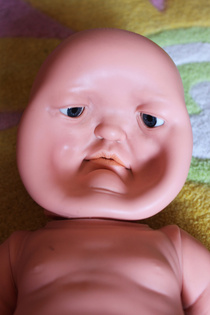 Accidentally stepped on my little sisters doll