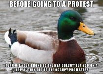 Actual Advice Mallard for people going to the protests on July th