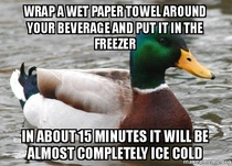 Actual Advice Mallard ice your beverage in  mins