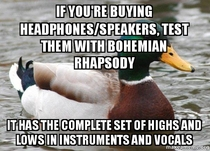 Actual Advice Mallard thank you freddie mercury